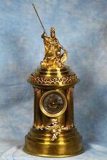 New ListingImpressive Large Antique French Bronze Figural Clock 19th Century