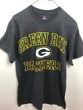Green Bay Packers Majestic NFL Football Shirt Size Medium Gray/Green EUC