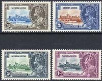 Sierra Leone 1937 Silver Jubilee set mint SG191/182/183/184 (4)