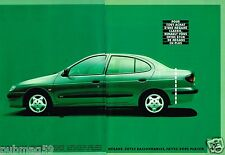 Publicité advertising 1996 (2 pages) Renault Mégane