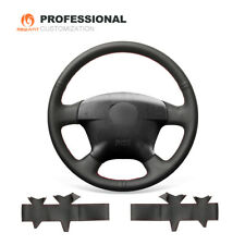 Top Leather Car Steering Wheel Cover for Honda Civic 2001 2002 Civic Hybrid 2003