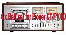 Lot de 4 x courroies pour Pioneer CT-F1000 enregistreur de cassette. NEUF
