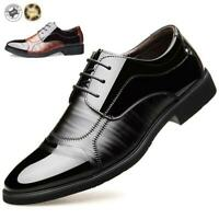 Men's Casual Leather Smart Formal Wedding Business Shoes Dress Lace Up Oxfords
