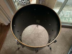 Yamaha Recording Custom 16x16 floor tom Drum Lacquer bearings Vintage 1984
