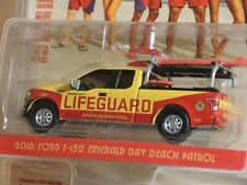 BAYWATCH LIFEGUARD FORD F-150 Emerald Bay Beach Patrol 1:64 Greenlight L. E. New