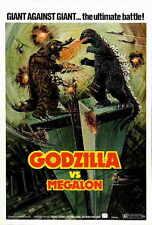 GODZILLA VS MEGALON Movie POSTER 27x40 Katsuhiko Sasakai Hiroyuki Kawase Yutaka
