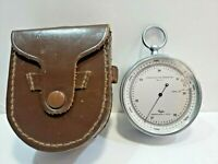 Taylor Instrument Compensated for Temperature Barometer W Leather Pouch Vintage
