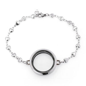Fashion Living Memory Floating Charm Locket Pendant Watch Bangle Bracelet Gift
