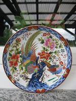 ASSIETTE COLLECTION Porcelaine JAPON COUPLE OISEAUX DU PARADIS 16 cm diamètre