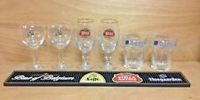 Best Of Belgium - Leffe Stella Artois & Hoegaarden Bar Mat & Glass Set New & F/S