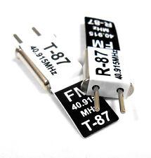 RC 40 MHz 40.915 FM Cristal TX & RX Receptor 40 MHz Negro canal 87