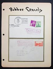 Rubber Cancels Philatelic Mail 2 Covers USA - Amerika Brief (Lot-I-5281+