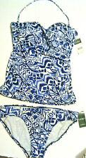 Ralph Lauren Womens Tankini Top & Bikini Bottom Swimsuit Size 10 New