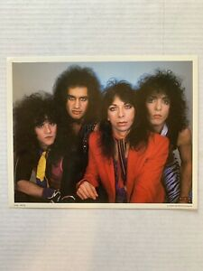 VINTAGE - KISS Band Photo Color-  Anabas Frehley Criss Stanley