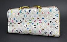 Auth LOUIS VUITTON Insolite Multicolor Canvas Yellow Leather Long Wallet #25737