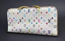 Auth LOUIS VUITTON Insolite Multicolor Canvas Yellow Leather Long Wallet #25737