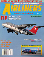 AIRLINERS, WORLD'S AIRLINE MAG.Vol 10 #5 #47 Sep/Oct 97 Southwest, 747SP, DC-4