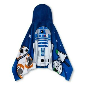 NEW IN PACKAGE STAR WARS HOODED TOWEL WRAP R2-D2 & BB-8