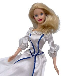 Vintage 1998 Barbie Fashion Doll White Gown Bride Mattel 90's