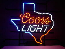 "New Coors Light Texas Lone Star Beer Man Cave Bar Neon Light Sign 20""x16"""