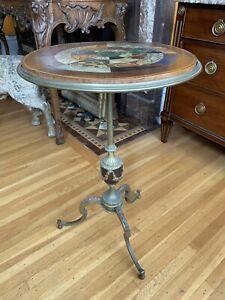 French Louis XVI Style Napoleon III Gueridon TAHAN Fr de L'EMPEREUR Side Table