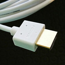 (20 Lot) Ultra Slim HDMI Cable HDTV 4K 3D 1080p Ethernet BluRay LED - 6 ft White