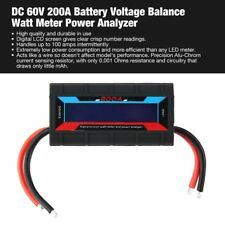 DC 60V 200A Battery Voltage Balance Watt Meter Power Analyzer RC CheckerHQ