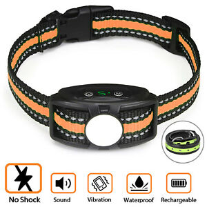 Dog Training Bark Collar - Auto Vibration Stop Barking NO-Shock Anti Bark Collar