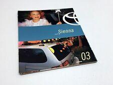 2003 Toyota Sienna Van Brochure