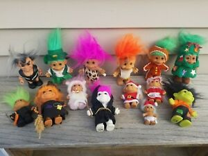 Lot of 14 Russ Troll Dolls / Christmas, Halloween & More!!