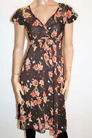 NEXT Brand Black Tulip Print Short Sleeve Chiffon Over Dress Size 12 BNWT #RE76