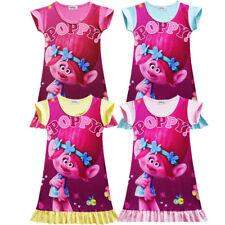 Trolls Poppy Kids Girls Toddler A-Line Dress Nightwear T shirt Cute Sleepwear