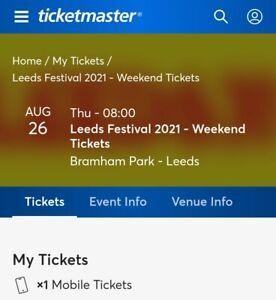 Leeds Festival Weekend Ticket 2021
