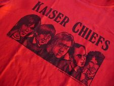 Kaiser Chiefs 2007 T-Shirt Red Small DC Thomson Cartoon Design British Indie Pop