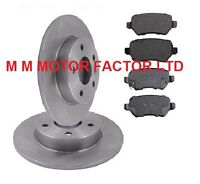 FOR Vauxhall Astra Mk5 H (2004-) ALL MODELS REAR SOLID BRAKE DISCS AND PADS SET