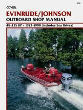 1973-1990 Clymer Evinrude/johnson OUTBOARD 48-235 HP Service Manual B736