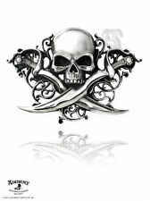Alchemy Metal Wear Letter of Marque Skull & Daggers Pirates Pewter Belt Buckle