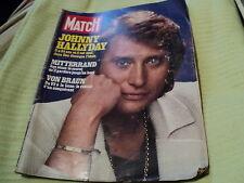 "RARE! REVUE ""PARIS MATCH N°1466 - 1977"" Johnny HALLYDAY"