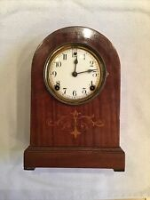 Antique Sessions Beehive Clock W/Porcelain Dial & Wood Inlay, For Parts / Repair