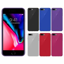 "Funda gel lisa Apple IPHONE 8 PLUS 5.5"" + protector cristal opcional"