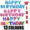 Happy birthday Foil Balloons Sets No Helium Wedding Birthday Hen Party Decor