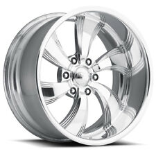 "Pro Wheels TWISTED KILLER 6 22"" Polished Aluminum Billet Wheels Rims (set of 4)"