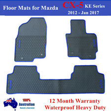 Waterproof Rubber Floor Mats Tailor Made for Mazda CX-5 2012 - 2017 Blue Black