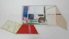 Mid Century Modern Signed Abstract Custom Cut Mat board Serigraph Print 1969