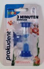Sanduhr 3 Minuten mit Saugnapf Blau Zahnpflege Prokudent Kids