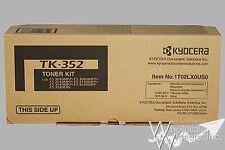 New Genuine Kyocera Mita TK-352 OEM Black Toner Cartridge TK352