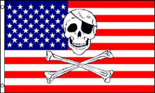 Usa Pirate Skull and Crossbones Polyester 3x5 Foot Flag Jolly Roger American Us
