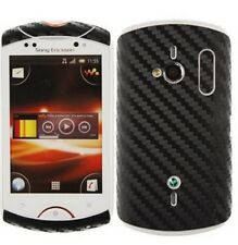 Skinomi Carbon Fiber Skin Black+Screen Film for Sony Ericsson Live with Walkman