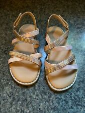 Toddler Girls Rose Gold Sandals Size 8 Cat And Jack Mabyn