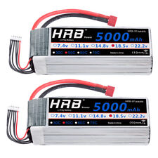 2pcs HRB 18.5V 5000mAh 5S LiPo Battery 50C-100C Deans for RC Helicopter Car Boat